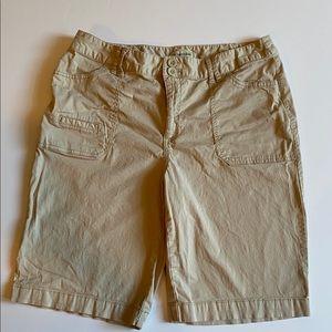 St Johns Bay Khaki Bermuda Shorts in Tan